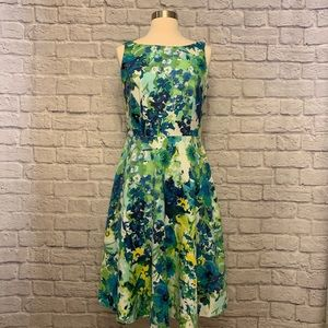 Black Label by Evan-Picone Lined Floral Dress
